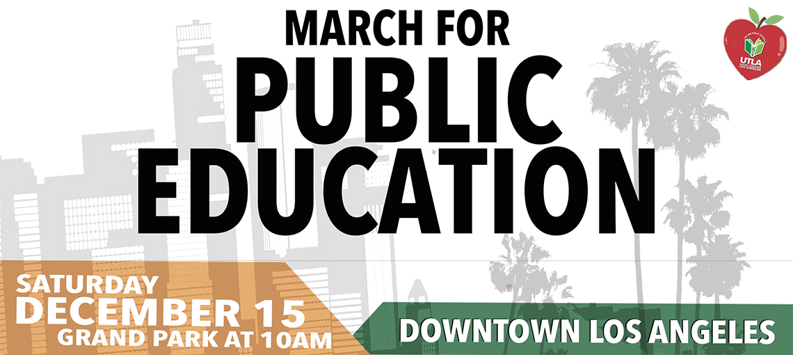 March for Public Education Large Slide