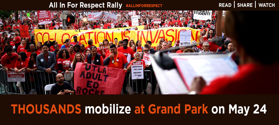All In For Respect Rally, #ALLINFORRESPECT, Thousands mobile at Grand Park on May 24, Read, Share, Watch