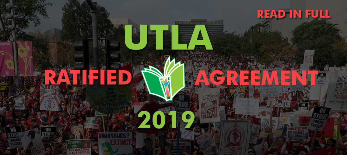 UTLA Tentative Agreement and Summary 2019