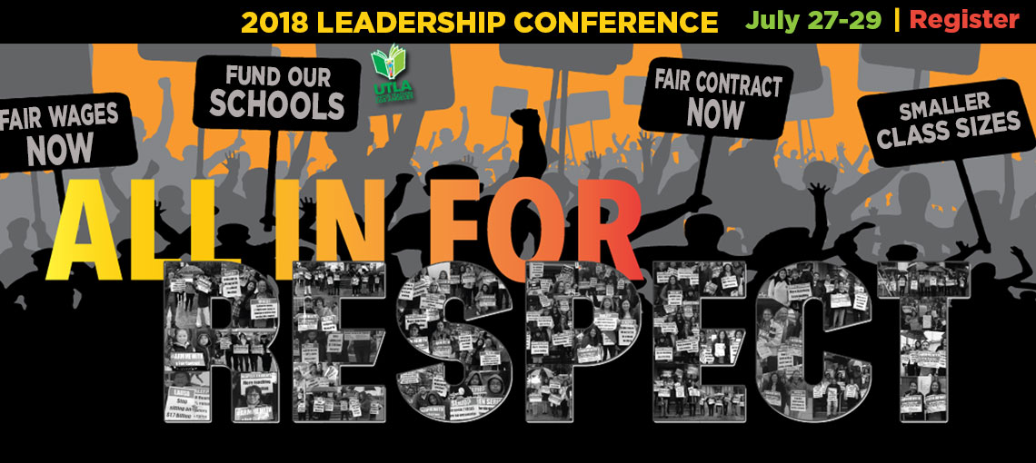 Register for the 2018 Leadership Conference, All in For Respect, July 27-29