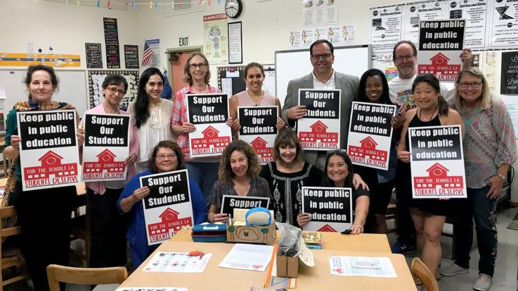Canyon ES Staff with Alex Caputo-Pearl