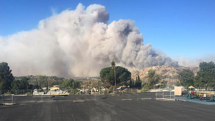 School is evacuated by wildfires
