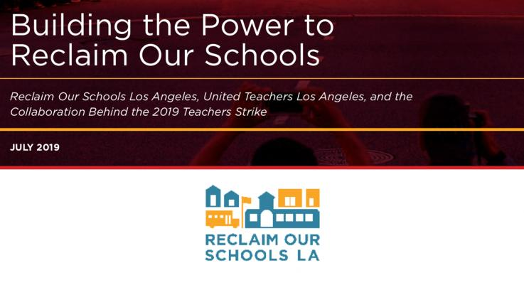 Reclaim Our Schools Press Release