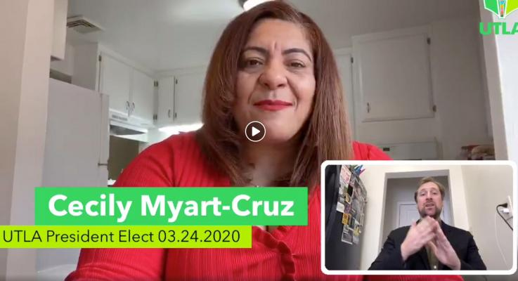 Play	 -8:00 Additional Visual SettingsHD Enter Watch And ScrollEnter Fullscreen	 Mute Close Share commentComment LikeShow more reactions 03.24.2020-Cecily Myart-Cruz gives a message to the LAUSD community, including parents and students.