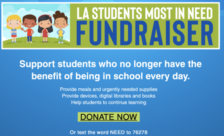 LAUSD Fundraiser for students